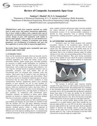Review of Composite Asymmetric Spur Gear : Innovative Research ...
